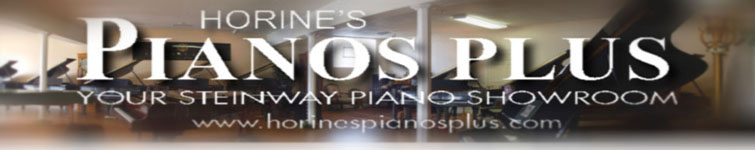 Horine's Pianos Plus Showroom Banner